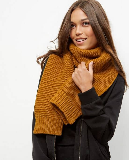 mustard scarf for fall