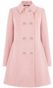 Oasis coat in Rose Quartz