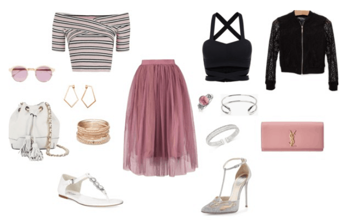 fuschia day to night outfit for summer